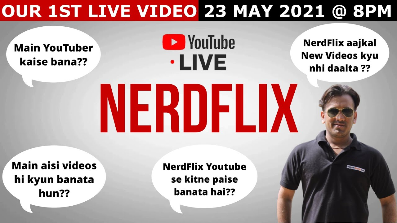 Download 1ST LIVE VIDEO : KNOW ABOUT NERDFLIX    LIVE QUESTION  & ANSWERS   MEET THE ADMIN #NerdFlixIndiaLive