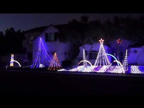 2012 CHRISTMAS LIGHT SHOW IN TUCSON AZ