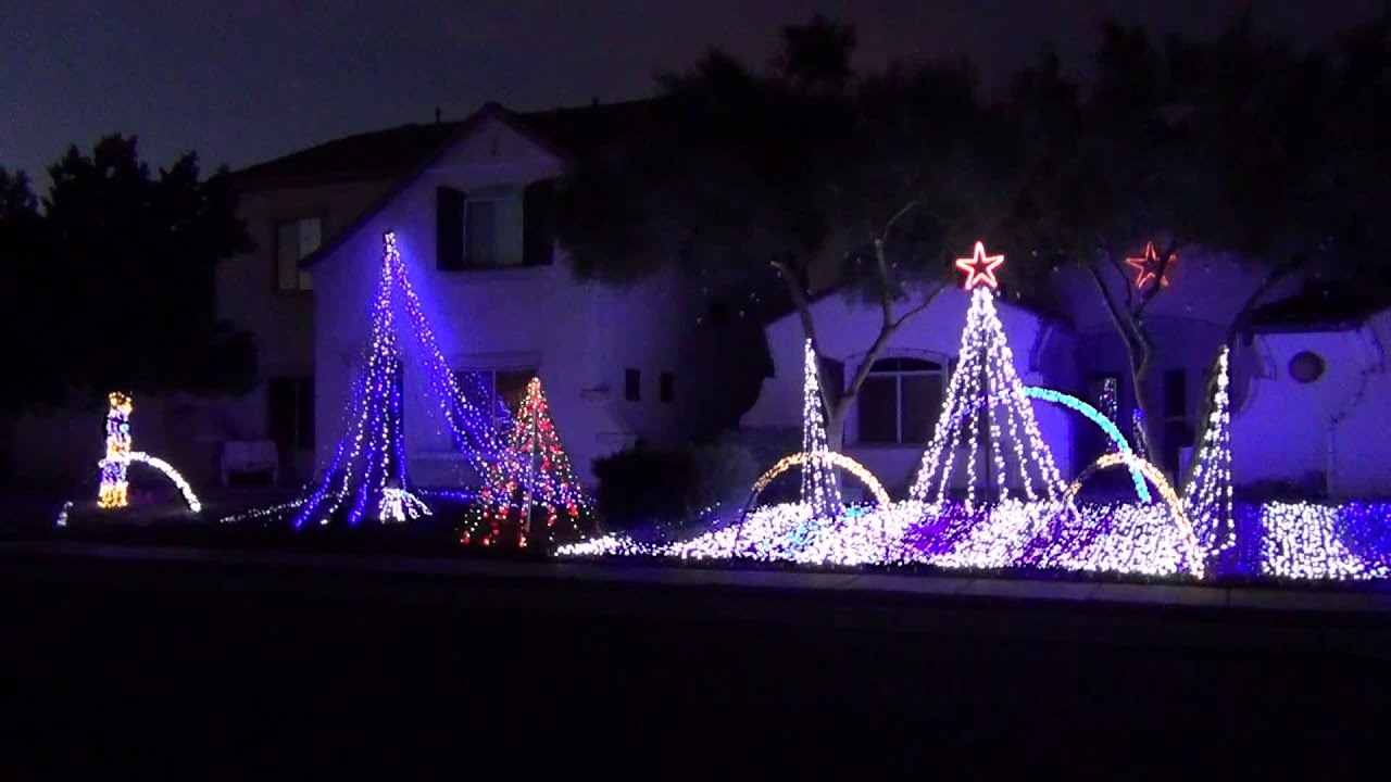 2012 CHRISTMAS LIGHT SHOW IN TUCSON AZ   YouTube