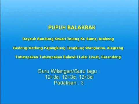 Lagu Sunda dengan lirik | PUPUH BALAKBAK
