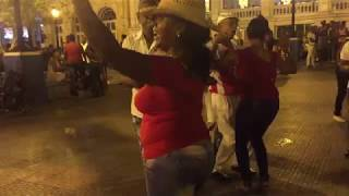 Cuban Salsa Dancers in Santiago, Cuba