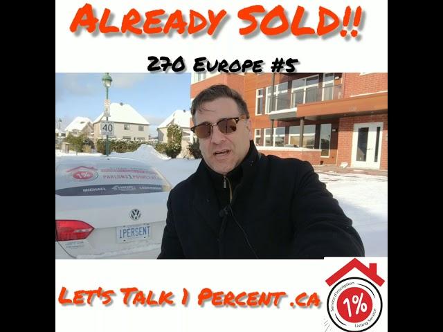 Already SOLD condo 270 Europe #5 michaellederman.ca