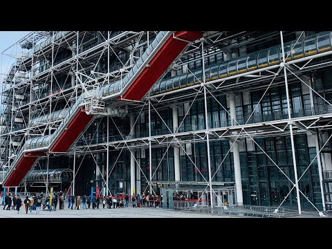 Paris modern art / Pompidou centre / cinematic