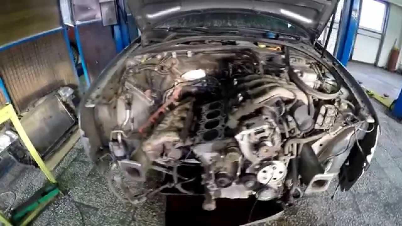Снятие ГБЦ AUDI A4 двигатель ALT