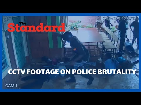 Voi police officers captured on CCTV entering into a girls hostel and attacking students