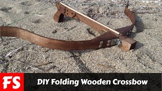 How To Make A Folding Wooden Crossbow (FS Woodworking)