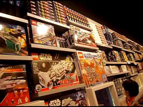 Lego store in Westfield london - YouTube