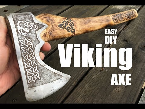 How to make a Viking Battle Axe from an old rusty axe head