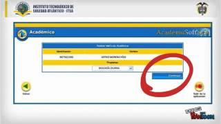 Realizar mátricula Académica ITSA