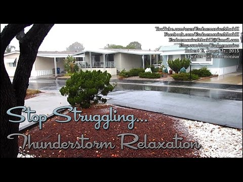 THUNDERSTORM - A Rainy Day Sleep Or Relaxation Video - Day 16,914