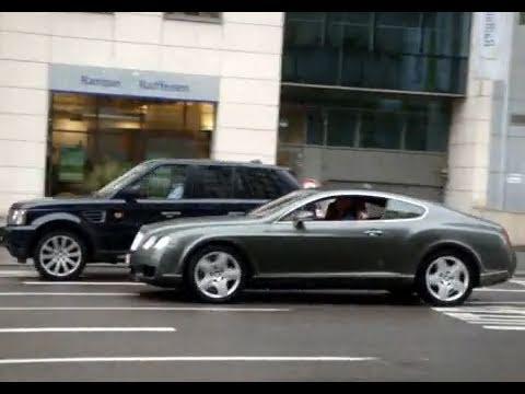 8 minutes of Range Rover all models. Racing vs. Bentley GT, Luxembourg dealership.