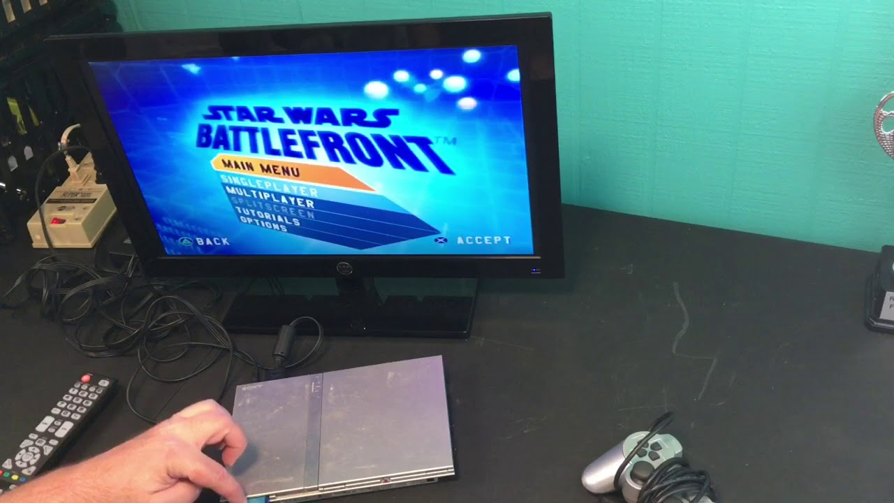 Testing a Video Game System - PS2 Slim Silver