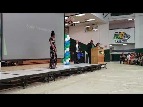 Cya's Stole Presentation.  Montwood High School Rams Early College graduate.