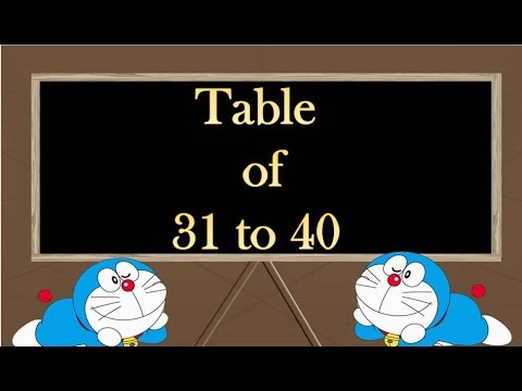 Table Of 31 To 40 Multiplication For Kids Anmol Education Group