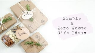 Simple & Zero Waste Gift Ideas + Tape-Free Wrapping Demo | Jamie Kate