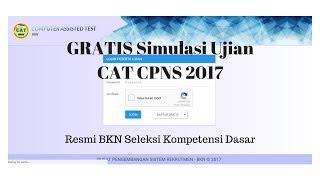 Download Video GRATIS Simulasi Ujian CAT CPNS 2017 Resmi BKN Seleksi Kompetensi Dasar MP3 3GP MP4