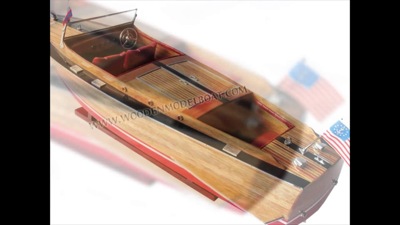 Chris craft model boat plans - Chris Craft Runabout 1930 Gia Nhien Wooden Model Boat
