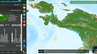How to check which concession in Papua cleared the most forest in 2018