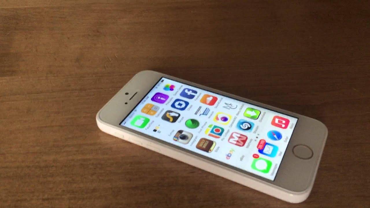 RARE: all white iPhone 5c with fingerprint scanner! - YouTube