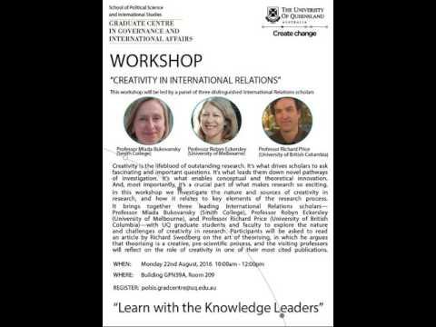 Creativity in International relations workshop
