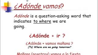 the verb ir to go in spanish