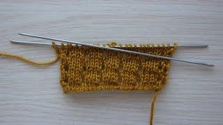 Вязание спицами. Урок 5 - Накид | Yarn over