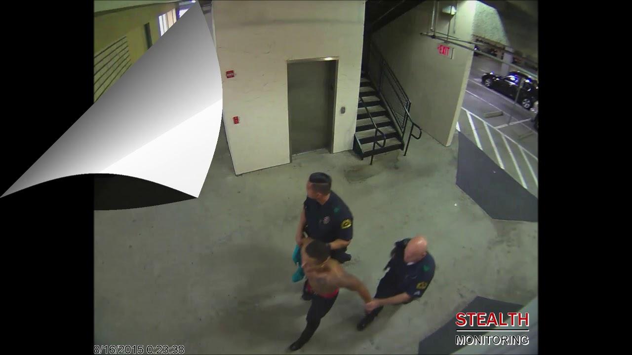 Police Arrest Half-Naked Trespasser - Shopping Center Security