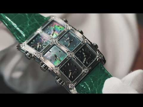 IceLink Black Mother Of Pearl Emerald Watch