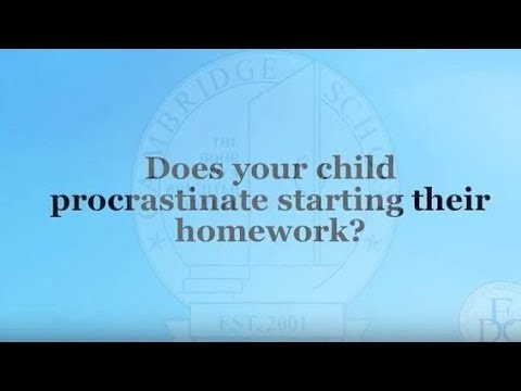 Peg Dawson:  Homework Procrastination