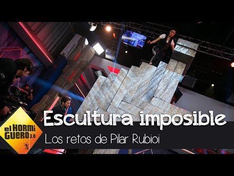 Pablo Alborán ayuda a Pilar Rubio con su escultura imposible - El Hormiguero 3.0