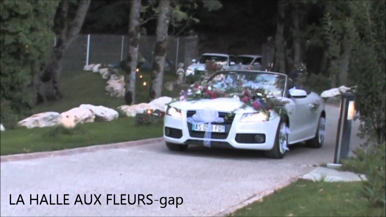 d coration de voiture mariage la halle aux fleurs gap floral design youtube. Black Bedroom Furniture Sets. Home Design Ideas
