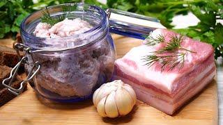 Любое Сало будет Нежнейшим Все дело в рецепте Хоть ложкой ешь хоть на хлеб намазывай