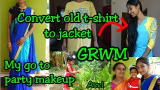 My go to weddingguest Makeup|Convert old t-shirt to jacket|Getting ready with baby|Mommyvlogger|Asvi