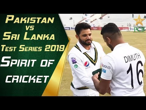 Spirit of cricket | Pakistan vs Sri Lanka 1st Test