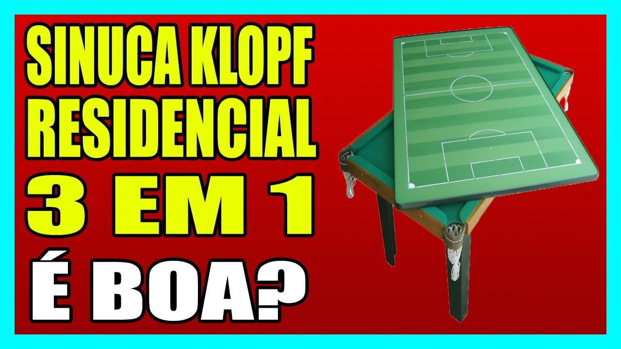 df4c6fc1d7f65 MESA DE SINUCA KLOPF RESIDENCIAL - MULTIUSO 3 EM 1 - YouTube