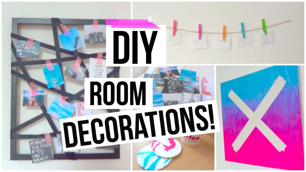 Diy tumblr room decor cheap and cute youtube for Cute cheap home decor