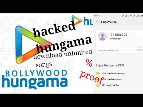 Hack hungama subscription || download unlimited songs in super hd quality on hungama || mi music