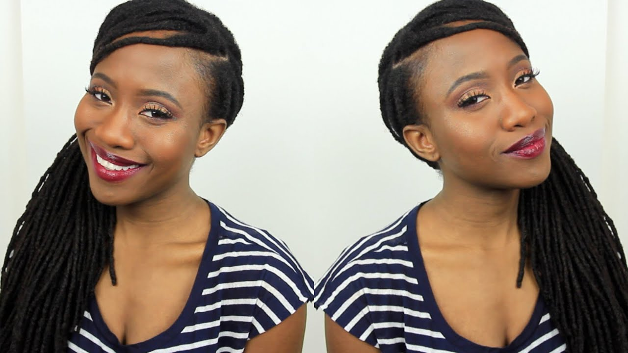 how to cover up & fill in thinning edges & hairline + loc style   jasmine rose