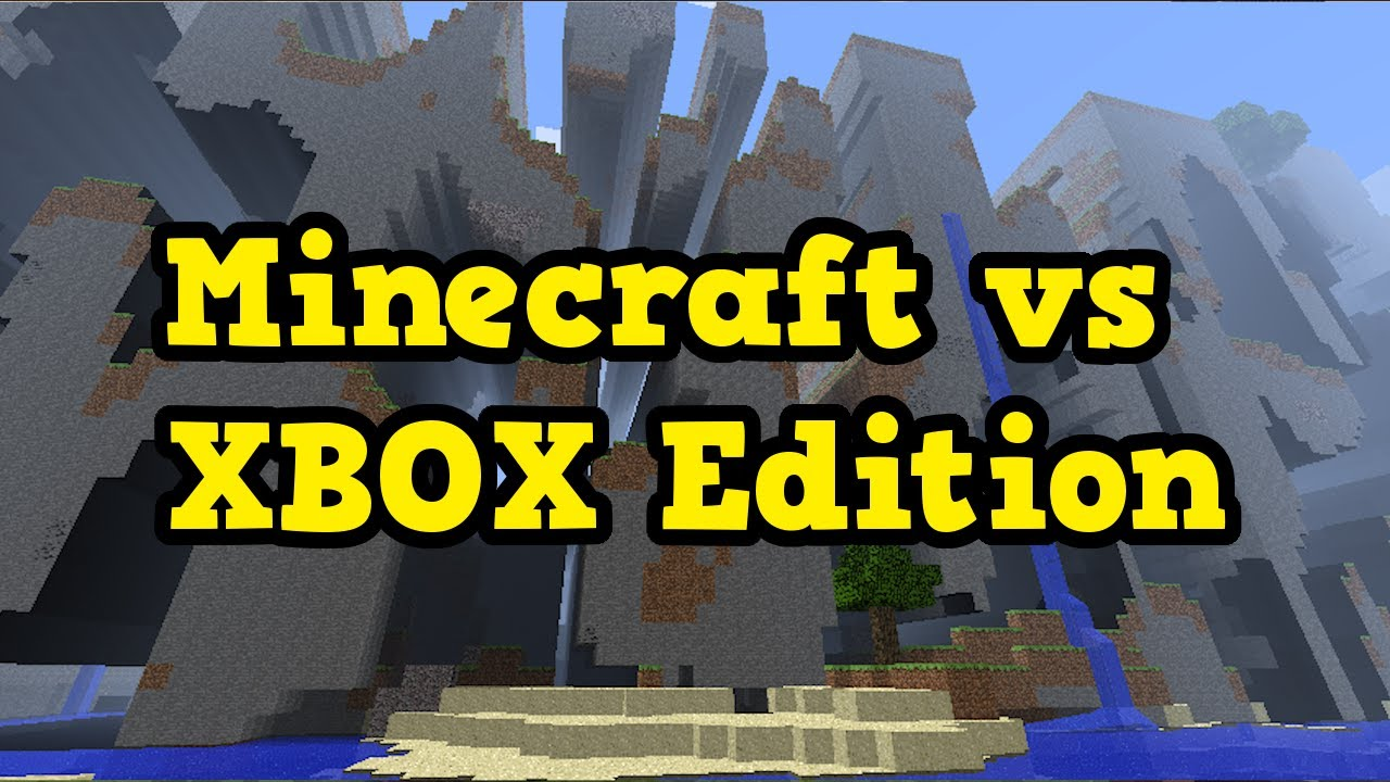 Old Minecraft Xbox Vs New Minecraft Big Differences