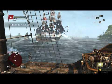 AC4: BlackBeard's Queen Anne's Revenge Vs Spanish man o' war Galleon