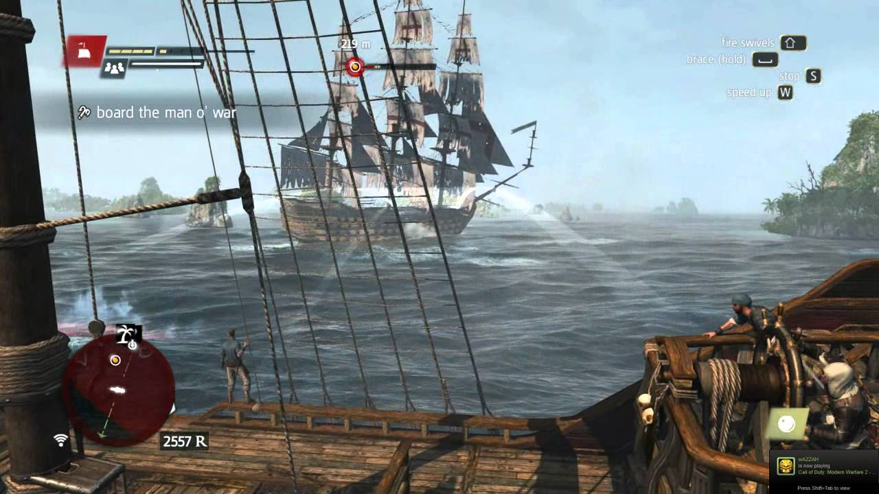 Ac4 Blackbeard S Queen Anne S Revenge Vs Spanish Man O War