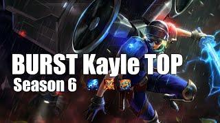 Kayle Top BURST BUILD - VS - Gangplank - Full Gameplay - Season 6 - Patch 6.17