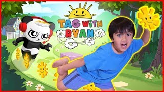Ryan Plays Tag with Ryan Game on iPad with Mommy!  Ryan VS Mommy Who scores higher Challenge!