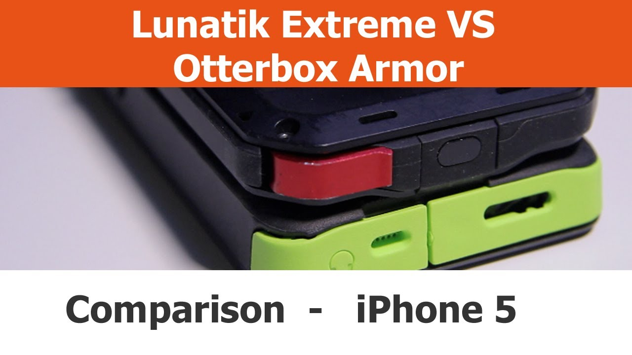 timeless design 70c9a be7f6 Lunatik Taktik Extreme vs. Otterbox Armor iPhone 5 Cases