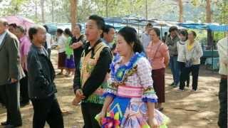 Mountain tribes (Hmong, Lao Loum, Khamu) and a Hmong-festival in Laos