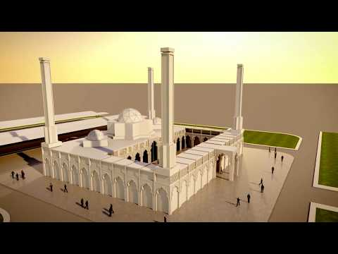 3D Islamic Mosque by Graphic Design student  from RUW-Bharain