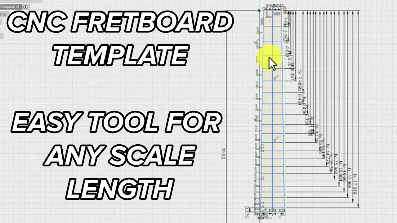 3D Model a Fretboard using Parametric Equations for CNC