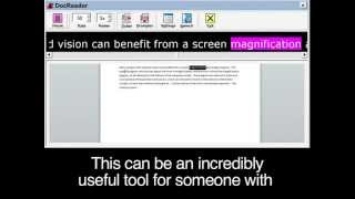 Screen Magnification/Reader Software