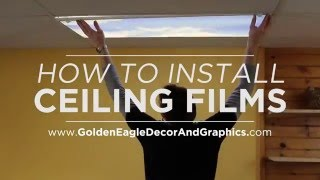 Decorative Fluorescent Ceiling Light Cover (Installation Tutorial) Reduce Glare and Eye Strain