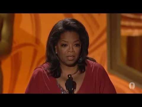 Oprah Winfrey Accepts Her Jean Hersholt Humanitarian Award At The 2011 Governors Awards